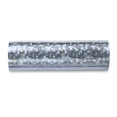 Serpentyna holograficzna, srebrny, 3,8m