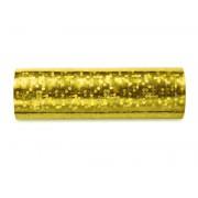 Serpentyna holograficzna, złoty, 3,8m zestaw 18 szt.