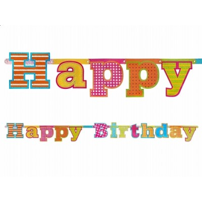 Baner Happy Birthday, 16 x 166cm
