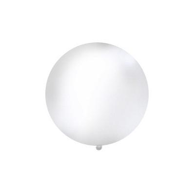 Balon 1m, okrągły, pastel biały