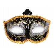 Maska Party, czarny, srebrny i złoty