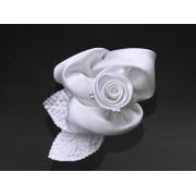 Różyczki na przyssawkach, biały, 6,5cm zestaw 10 sztuk