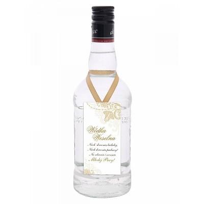 """Zawieszki na wódkę """"Wódka Weselna"""", biały i złoty"""