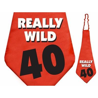 Krawat Really Wild 40 na 40 - te urodziny
