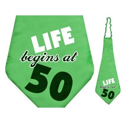 Krawat life Begins at 50 na 50 - te urodziny