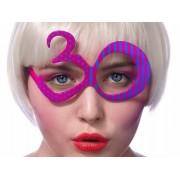 Okulary 30, fuksja, na 30 - te urodziny