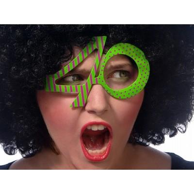 Okulary 40, zielone na 40
