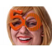 Okulary 50, pomarańcz na 50 - te urodziny