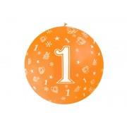 """Balon olbrzym """"1"""" na Roczek ,średnica 92 cm"""