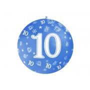 """Balon olbrzym """"10"""" na 10 - te urodziny ,średnica 92 cm"""