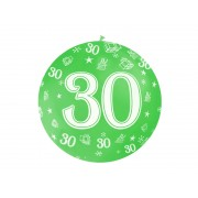 """Balon olbrzym """"30"""" na 30 - te urodziny ,średnica 92 cm"""