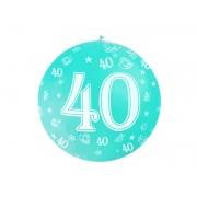 """Balon olbrzym """"40"""" na 40 - te urodziny ,średnica 92 cm"""