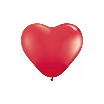 Balony 10 cali Serca, Pastel czerwony