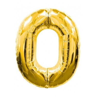 Balon foliowy Cyfra 0, 40 cali 95 cm złoty