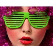 Okulary Żaluzje zielone