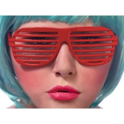 Okulary Żaluzje czerwone