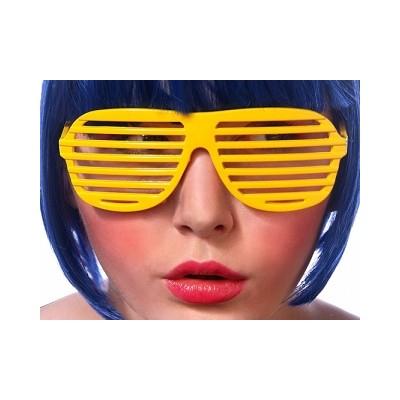 Okulary Żaluzje żółte