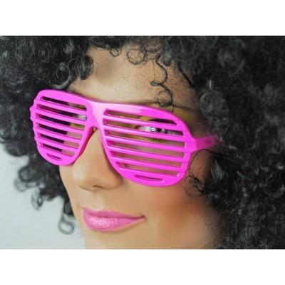 Okulary Żaluzje jasno różowe