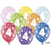 Balony na Czwarte Urodziny z nadrukiem 4