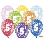 Balony na Piąte Urodziny z nadrukiem 5