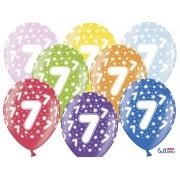 Balony na Siódme Urodziny z nadrukiem 7