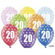 Balony na Dwudzieste Urodziny z nadrukiem 20