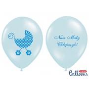 "Balony z nadrukiem ""Nasz Mały Chłopczyk"" błękitne"