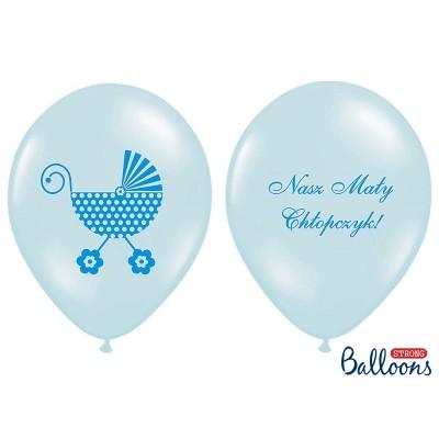 """Balony z nadrukiem """"Nasz Mały Chłopczyk"""" błękitne"""