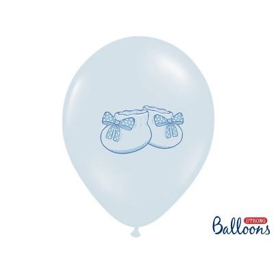 Balony z nadrukiem Bucik błękitne