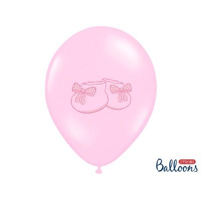 Balony z nadrukiem Bucik różowe