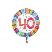 Balon foliowy 40 na trzydzieste urodziny
