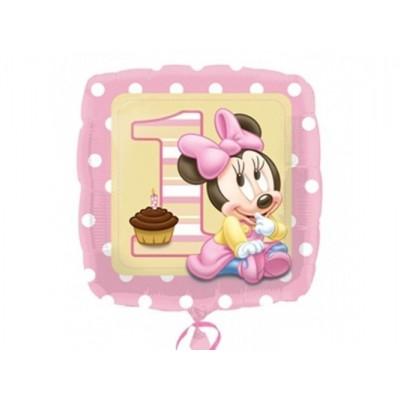 Balon foliowy na roczek Mała Minnie