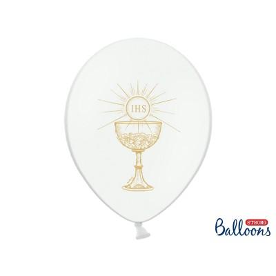 Balony komunijne z nadrukiem IHS