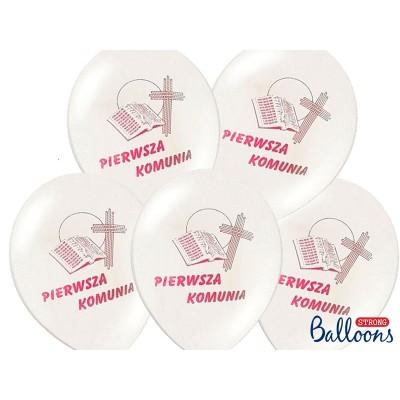 Balony Pierwsza Komunia z nadrukiem 12 cali