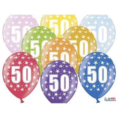 Napełnianie - pompowanie balonów helem - przykładowe balony na 50-te urodziny