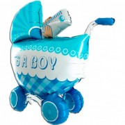 Balon foliowy Wózek 3D - IT'S A BOY