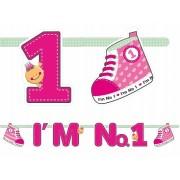 Baner I'm No. 1, różowy 110 cm